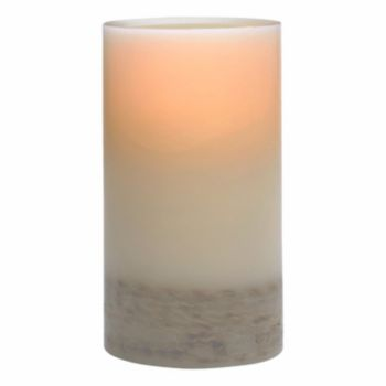 Matchless Candle Co. PushWick 3'' x 6'' Unscented Rope-Embedded Flameless LED Candle