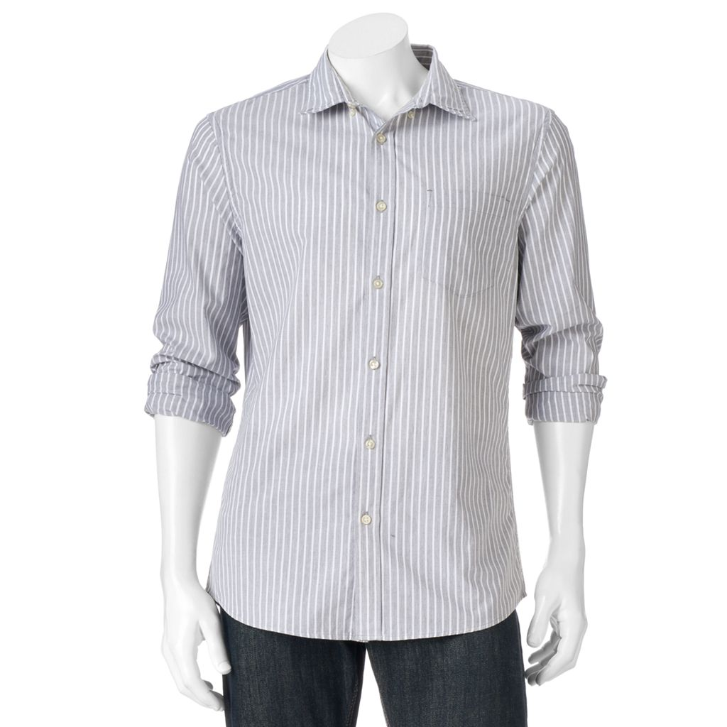 Big & Tall SONOMA Goods for Life™ Modern-Fit Poplin Button-Down Shirt
