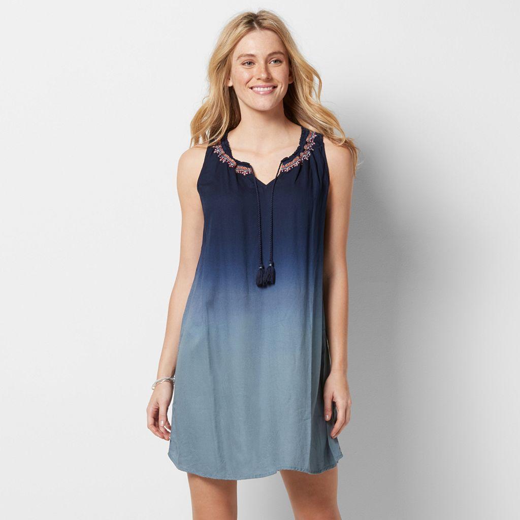 Women's SONOMA Goods for Life™ Dip-Dyed Shift Dress