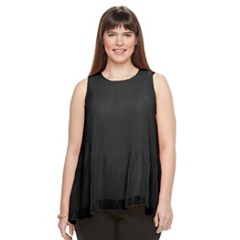 Plus Size Apt. 9® Accordion-Pleat Trapeze Tank