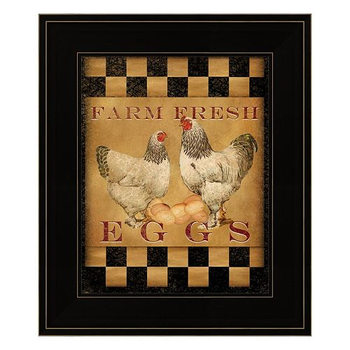"""Farm Fresh Eggs"" I Framed Wall Art"