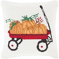 Decor 140 Holiday Hooked Throw Pillow Cover - 18'' x 18''