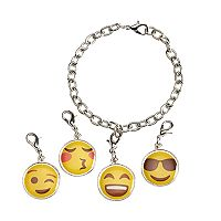 Girls 5-16 Emoji Charm Bracelet Set