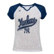 Girls 7-16 Majestic New York Yankees Retro Win Tee
