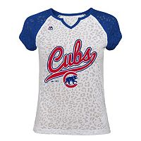 Girls 7-16 Majestic Chicago Cubs Retro Win Tee