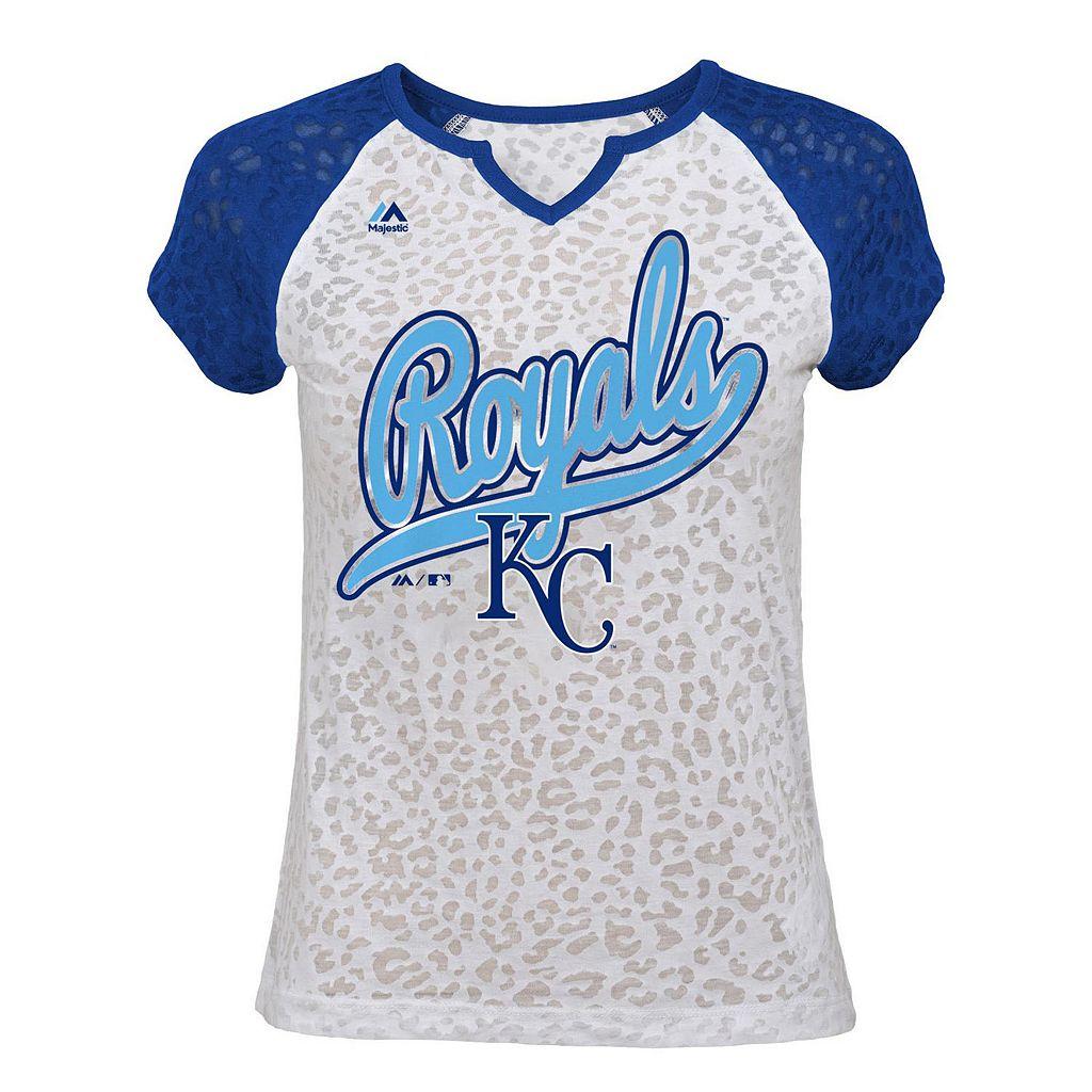 Girls 7-16 Majestic Kansas City Royals Retro Win Tee