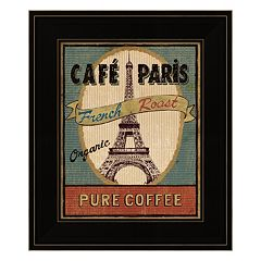 Coffee Blend Label II Framed Wall Art