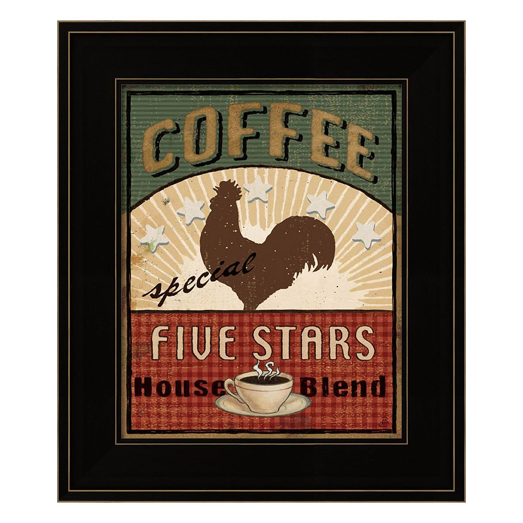 Coffee Blend Label III Framed Wall Art