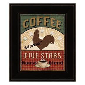 Coffee Blend Label III Framed Wall Art