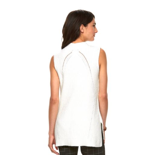Women's ELLE™ Sleeveless Ribbed Sweater