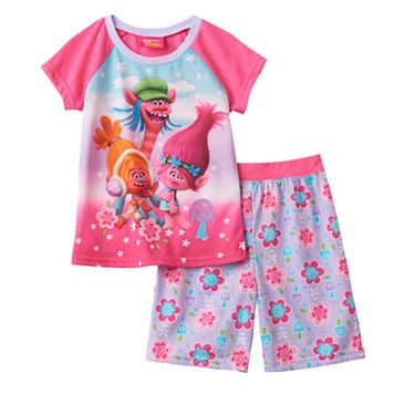 Girls 4-12 DreamWorks Trolls DJ Suki, Cooper & Poppy Pajama Set