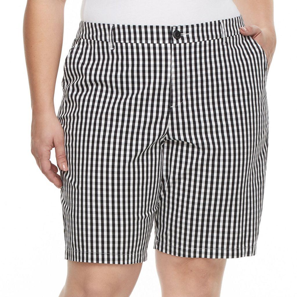 Plus Size Croft & Barrow® Essential Twill Bermuda Shorts