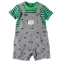 Baby Boy Carter's Tee & French Terry Shortalls Set