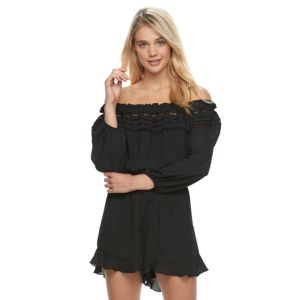 Juniors' Jolie Vie Off The Shoulder Romper