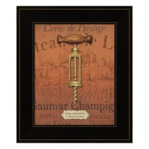 Antique Corkscrew II Red Framed Wall Art