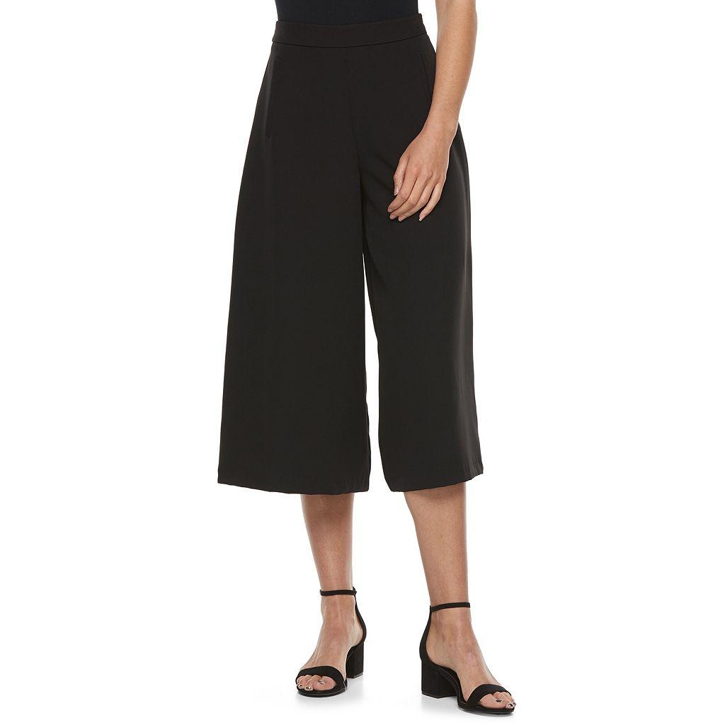 Juniors' Jolie Vie High Waist Wide-Leg Pants