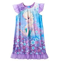 Disney's Frozen Elsa Girls 4-12 Cosmic Knee-Length Dorm Nightgown