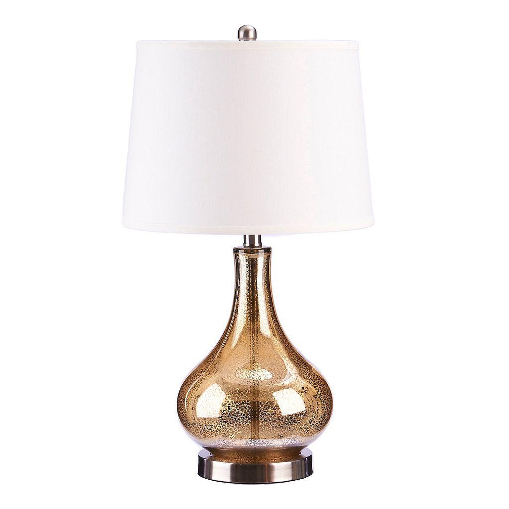 Catalina Lighting Mercury Glass Gourd Table Lamp