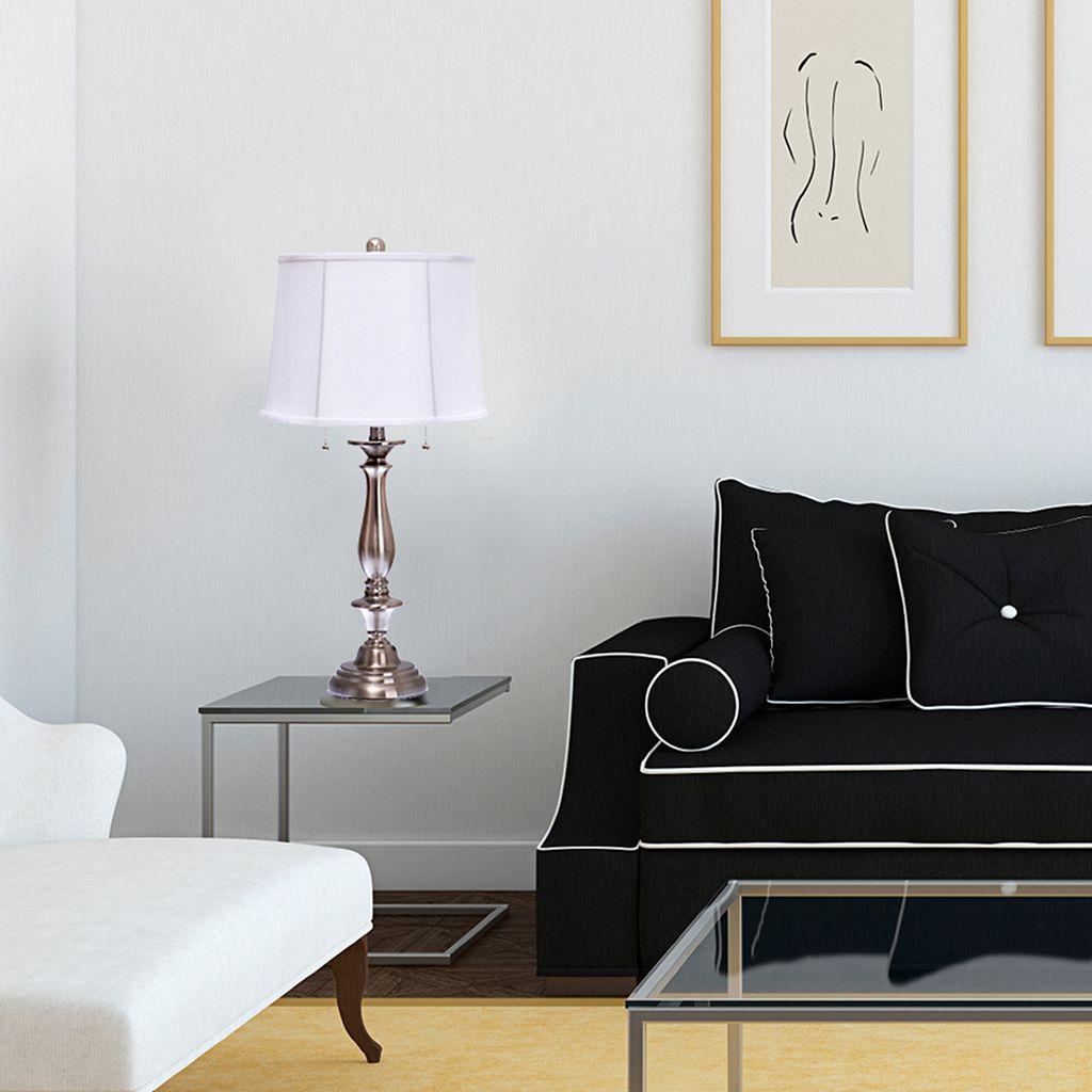 Catalina Lighting 2-Light Steel Table Lamp