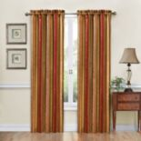 Traditions by Waverly 1-Panel Stripe Ensemble Window Curtain