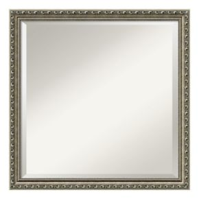 Amanti Art Silver Leaf Finish Square Wall Mirror