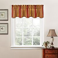 Traditions by Waverly Stripe Ensemble Scalloped Valance