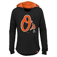 Girls 7-16 Majestic Baltimore OriolesThe Closer Pullover Hoodie