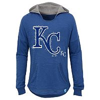 Girls 7-16 Majestic Kansas City RoyalsThe Closer Pullover Hoodie