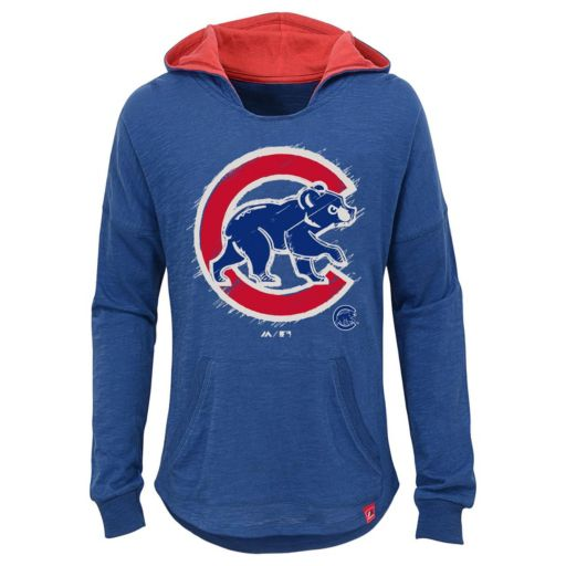 Girls 7-16 Majestic Chicago CubsThe Closer Pullover Hoodie