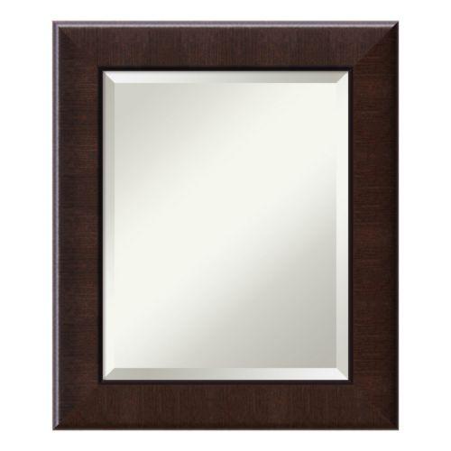 Amanti Art Dark Walnut Finish Medium Wall Mirror