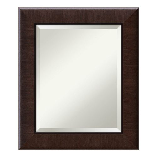 Amanti Art Dark Walnut Finish Medium Wall Mirror