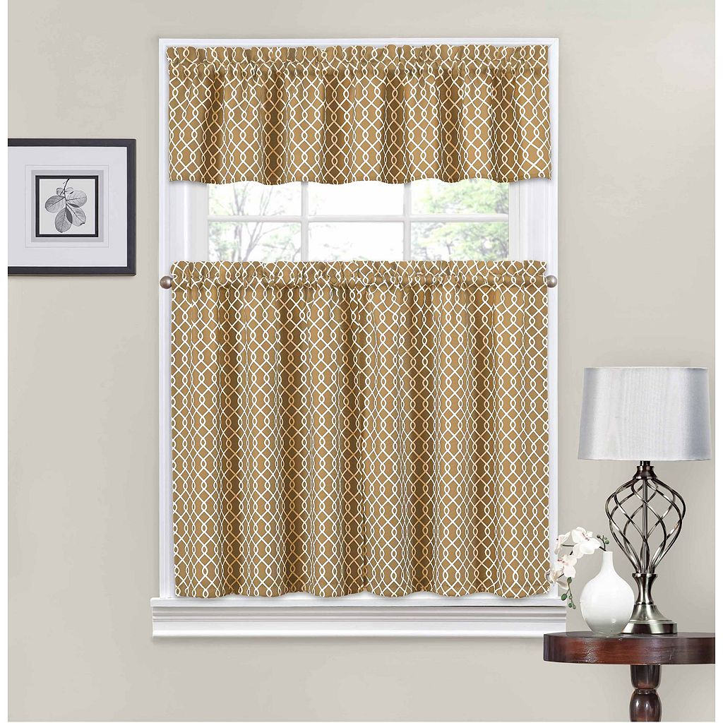 Traditions by Waverly Ellis Tier & Valance Kitchen Window Curtain Set