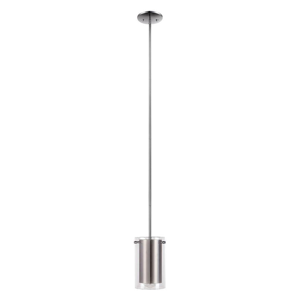 Catalina Lighting Chrome Finish Glass Pendant Lamp