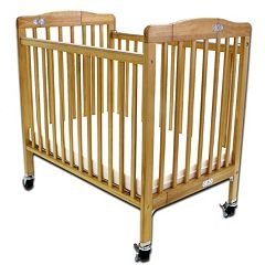 Pocket Crib Portable Folding Wood Crib by LA Baby