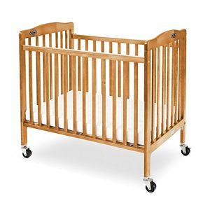 Pocket Crib Portable Folding Wood Crib by LA Baby