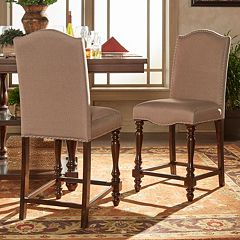 HomeVance Ingram Nailhead Accent Counter Chair 2 pc Set