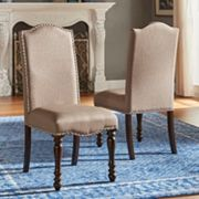 HomeVance Ingram Nailhead Dining Chair 2 pc Set