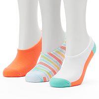 Women's Converse Made For Chucks 3-pk. Tie-Dye Striped Liner Socks