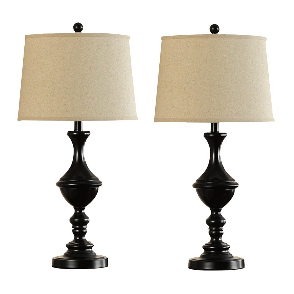 Catalina Lighting Bronze Finish Trophy Table Lamp 2-piece Set