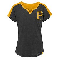 Girls 7-16 Majestic Pittsburgh Pirates Ballpark Dolman Tee