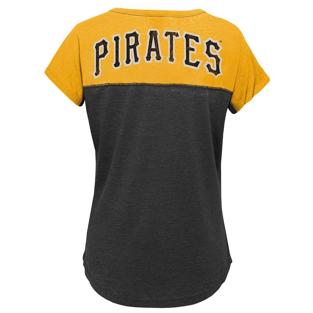 Girls 7-16 Majestic Pittsburgh Pirates Ballpark Dolman Tee