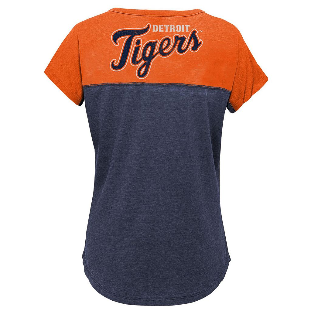 Girls 7-16 Majestic Detroit Tigers Ballpark Dolman Tee