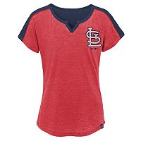 Girls 7-16 Majestic St. Louis Cardinals Ballpark Dolman Tee