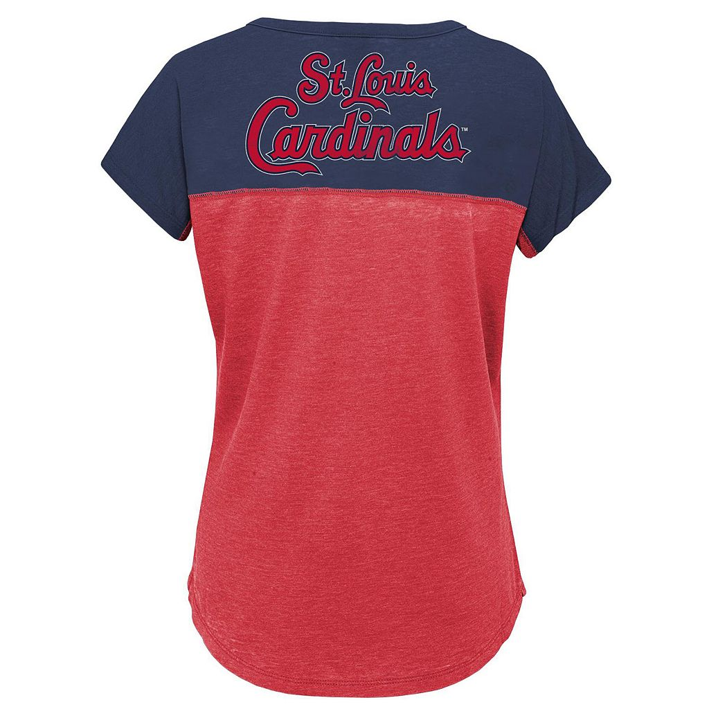 Girls 7-16 Majestic St. Louis Cardinals Ballpark Dolman Tee
