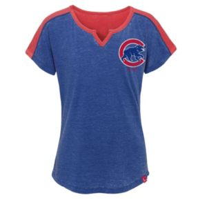 Girls 7-16 Majestic Chicago Cubs Ballpark Dolman Tee