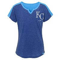 Girls 7-16 Majestic Kansas City Royals Ballpark Dolman Tee