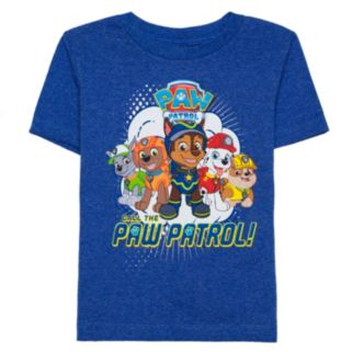 "Toddler Boy Chase, Marshall & Rocky ""Call the Paw Patrol"" Blue Graphic Tee"