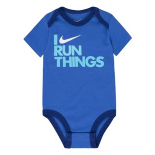 "Baby Boy Nike ""I Run Things"" Graphic Bodysuit"