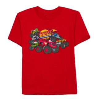 Toddler Boy Blaze and the Monster Machines Red Graphic Tee