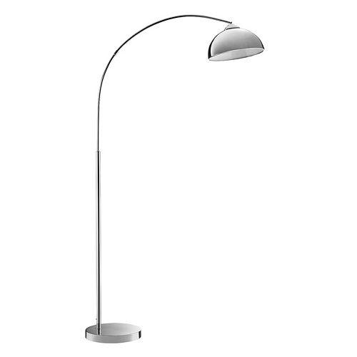 Catalina Lighting Chrome Finish Arc Floor Lamp